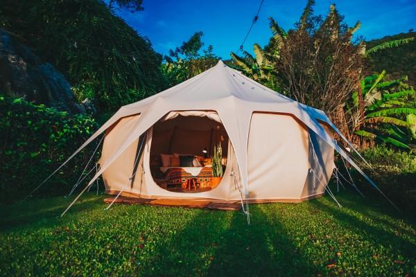 Luxe kampeer tent